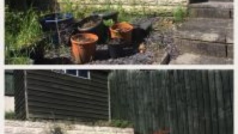 Little Garden make over we did a couple of weeks ago :)